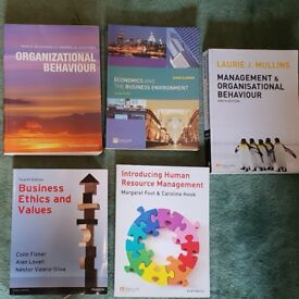 Various business management textbook bundles