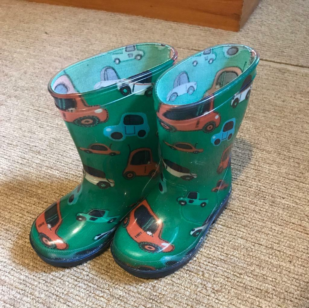 Boys Car Welly Boots Infant Size 6