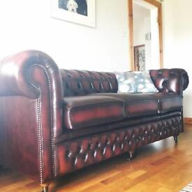 Brand New Chesterfield Sofa Antique Rust
