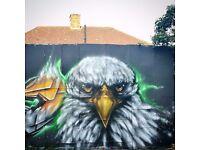 Street artist/Mural artist for bespoke graffiti airbrush ,workshops and more..