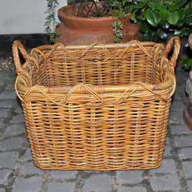Rectangular Wicker Basket for Newspapers / Magazines / Firewood / Wood / Fire Wood - Rectangle