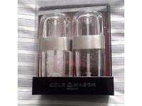 New Cole and Mason Seville salt and pepper Mill Set H57412P.
