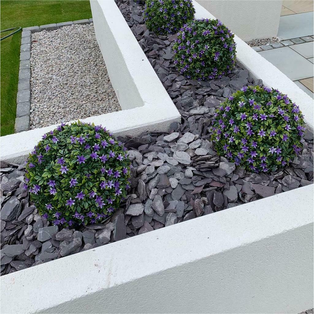 Garden Chips - 40mm Plum Slate - Free Delivery
