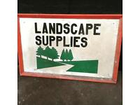 Large vintage wooden sign in good clean condition.