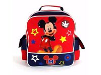 """Mickey Mouse Back 12"""" Toddler Back Pack - Used"""