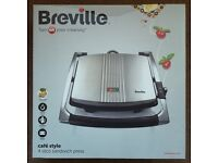 Breville VST026 4 Slice Sandwich Press - Stainless Steel