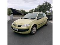 2004 Renault Megane *MOT'd to April 2018, 1.5L Diesel, £30 Road Tax*