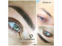 Phi Brows⭐️Microblading ⭐️Semi Permanent Eyebrows Make Up⭐️PMU by Kate Tiu Artist ⭐️