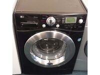 Lg 9 kg washing machine in black