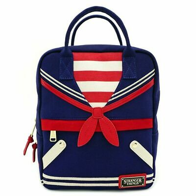 Official Loungefly Stranger Things Scoops Ahoy Canvas Mini Backpack Bag New