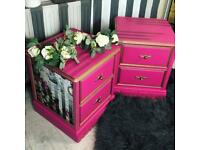 Matching solid wood bedside table