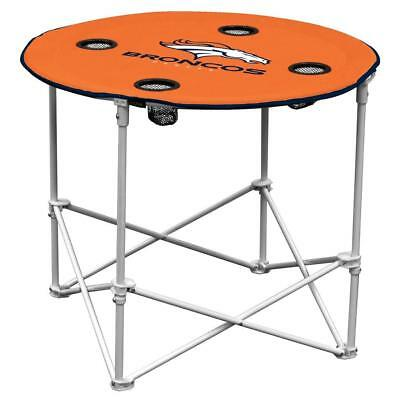 Denver Broncos Round Tailgate Table [NEW] NFL Portable Chair Fold Party