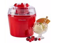 Andrew James Ice Cream Maker, 1.5 Litre – Red, used once