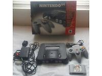 Nintendo 64 Console Bundle, 1 controller & Golden Eye game.