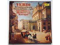 Opera Box Set - VERDI Allen Ouverturen und Vorspiele Overtures and Preludes, complete - DG 2707 090