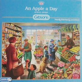 1000 piece jigsaw by Gibsons - Titled: An Apple a Day