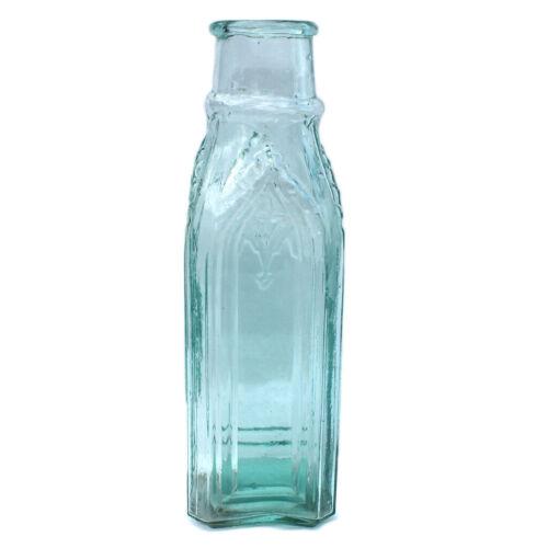 Antique Large Cathedral Pickle Bottle c. 1860s - Beautiful Aqua Glass