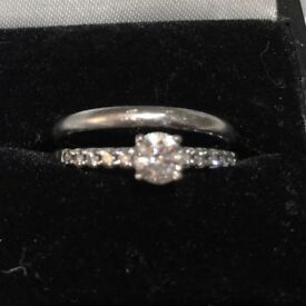 Diamond Engagement Ring Solitaire 0.65ct