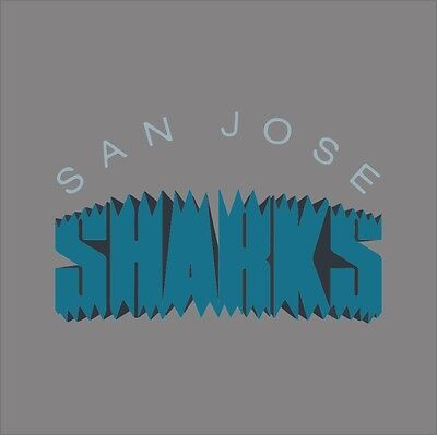 San Jose Sharks #4 NHL Team Logo Vinyl Decal Sticker Car Window Wall Cornhole