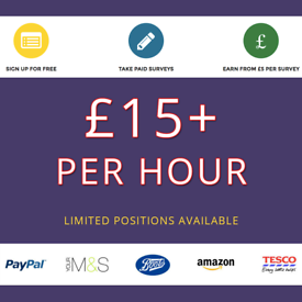 Work From Home - Earn Up to £15 Per Hour ** Free Part time, Student, Immediate start Extra Income **