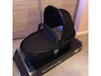 iCandy Peach 3 Blossom Lower Carrycot Twin Double in Jet Black