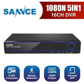 SANNCE 16CH 5IN1 HD-720P CCTV Home Surveillance Camera System Email Alert Motion