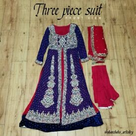 Asian Occasional Dress | Wedding Guest Dress | Indian/Pakistani Dress/Gown | Baraat/Walima Suit