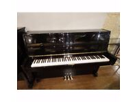 Steinbach Upright Black Polyester Piano at Sherwood Phoenix Pianos