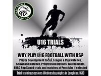 U16 Football Trials: Looking for a team with a progressive approach to football?