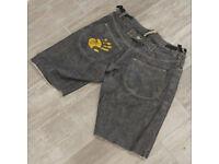 """Sharpeye """"Suiceyed"""" Button Fly Denim Shorts.. RARE!!"""