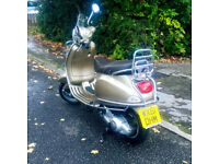 Beautiful Bronze Vespa LX 125 Touring, Low Mileage, Great Condition