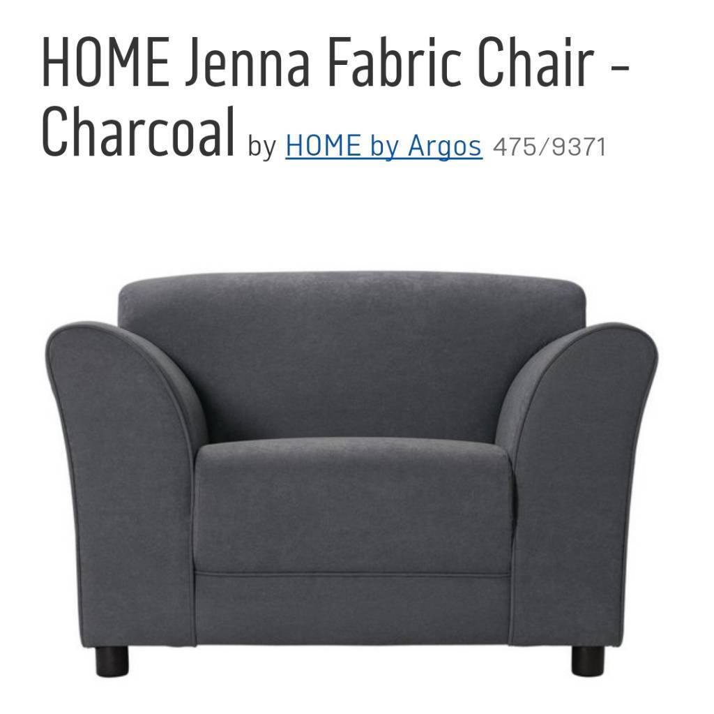 Argos HOME Jenna fabric armchair, charcoal grey
