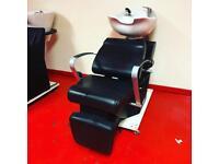 REM hairdressing salon backwash with electric footrest