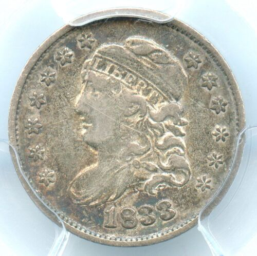 1833 Capped Bust Half Dime, PCGS VF30