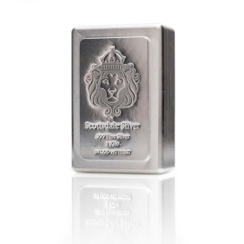 1 KILO Scottsdale STACKER® Silver Bar .999 Silver Bullion #A131