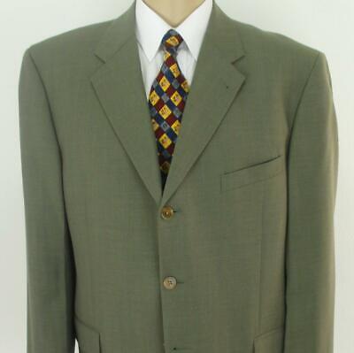 44 S Joseph Abboud Nordstrom Brown Plaid Wool 3Btn Mens Jacket Sport Coat Blazer