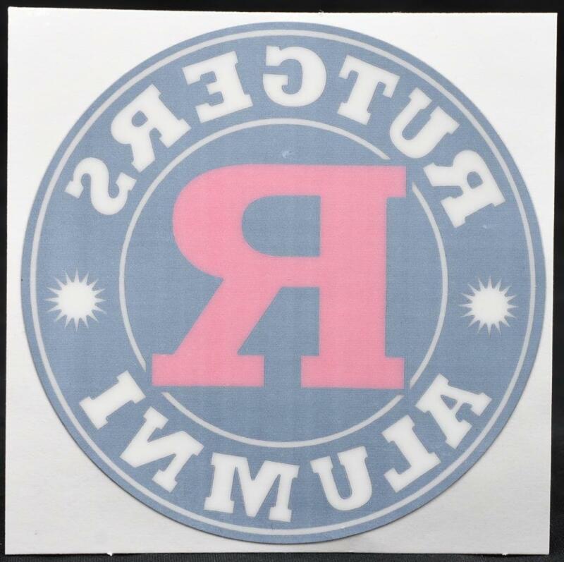 Rutgers Alumni Car Window Sticker New Jersey College University Scarlet Knights