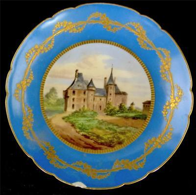 ANTIQUE 19TH CENTURY FRENCH SEVRES STYLE PORCELAIN COMPORT PLATE