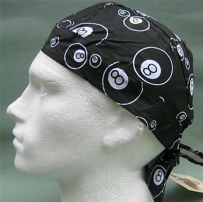 8 Ball,Black White ready Tie Bandana,Du, Do,Doo,Rag,Hat,Zand
