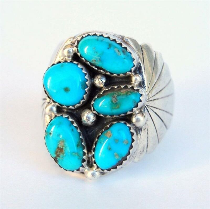 mens turquoise ring ebay