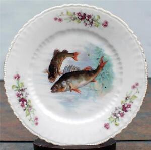 Antiq victoria austria porcelain hand painted fish decor 8 for Decor8 crack