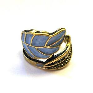 LEAF WRAP RING Gold Tone New Indie Retro Chic Pinkie Vintage Style