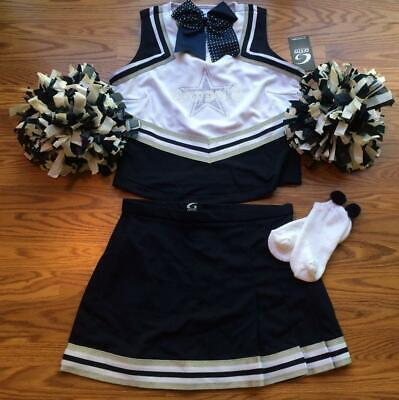Dallas Cowboy Cheerleading Outfit (COWBOYS CHEERLEADER COSTUME OUTFIT SET POM POMS BOW UNIFORM 12-14 GIRLS)