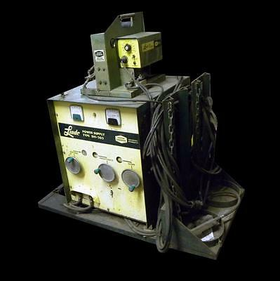 Linde Svi-203 200 Amp Power Supply With Union Carbide Swm31 Wire Feeder