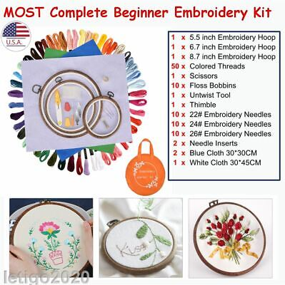 1Set DIY Embroidery Pen Stitching Punch Needle Kits with Scissor Sewing Kits US