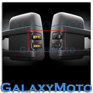 2008 2015 Super Duty Side Mirror Turn Lights Led Smoke