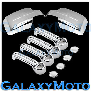 08-12-JEEP-LIBERTY-Triple-Chrome-plated-ABS-Mirror-4-Door-Handle-Cover-COMBO-Kit