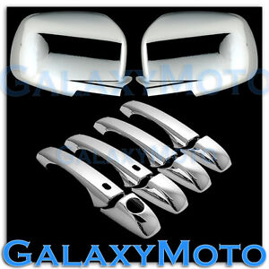 09-12 DODGE JOURNEY Chrome Mirror+4 Door Handle+Smart+Without PSG Keyhole Cover