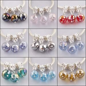 Wholesale-Faceted-Crystal-Glass-Ball-Pendant-European-Charms-Bead-Fit-Bracelets