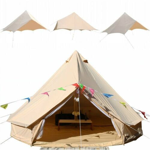 3M4M5M6M7M Rain Fly Waterproof Oxford Glamping Yurt Bell Tent Tent Accessories